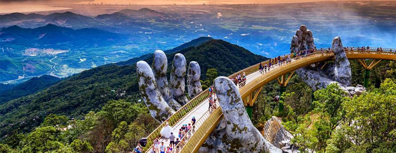 Image result for Golden Bridge in Vietnam